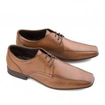 Ikon Fraser Men's Leather Lace Up Smart Shoes - Tan
