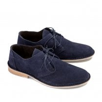 Ikon Franklin Men's Casual Derby Shoes - Navy