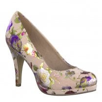 Tamaris Taggia High Heeled Platform Court Shoes - Rose Flower