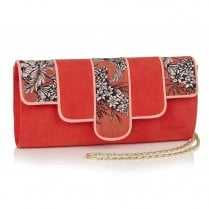 Ruby Shoo Canberra Clutch Bag - Orange/Red