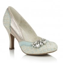 Ruby Shoo Fabia Elegant Occasion High Heel Shoes - Sky Blue