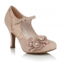 Ruby Shoo Antonia Occasion Mary Janes Heels - Rose Gold