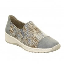 Ara Ossona Slip On Wedge Shoes - Sky