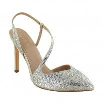 Menbur TROVO Sling Back Occasion Pointed Court Shoes - Gold
