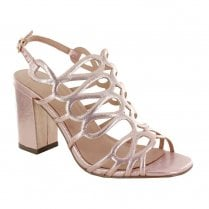 Menbur High Heel Strappy Sandals - Rose Gold