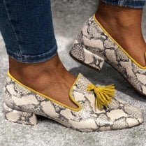 Wonders Natural Snake Loafer