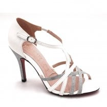 Kate Appleby Carlisle Glitter Heeled Strappy Sandals - White Mix