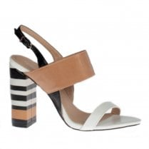 Kate Appleby Lydd Slingback High Heeled Sandals - Black/Tan/White