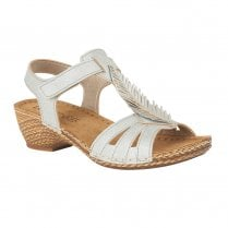 Lotus Melinda Low Wedge Open-Toe Sandals - Blue