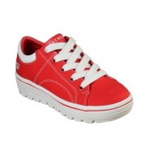 Skechers Womens Street Cleat Bring It Back Sneakers - Red