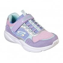 Skechers Girls Meridian Velcro Sneakers - Purple Lavender
