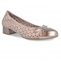Pitillos Womens Flat Ballerina Pumps Shoes - Rose Gold