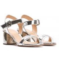 Unisa Silver Block Heel Sandal