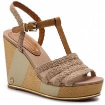 Tommy Hilfiger Espadrille Wedge Sandals  - Cobblestone
