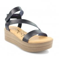 Blowfish Lover Platform Starppy Velcro Sandals - Black