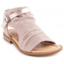 Blowfish Wyatt Vegan Buckled Ankle Strap Flat Sandals - Rose Gold