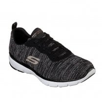 Skechers Womens Flex Appeal 3.0 Endless Glamour Sneakers - Black