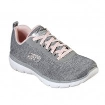 Skechers Womens Flex Appeal 3.0 Insiders 13067 Sneakers - Grey/Light Pink