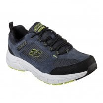 Skechers Mens Relaxed Fit: Oak Canyon 51893 Lace Up Sneakers - Navy/Lime