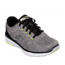 Skechers Mens Flex Advantage 3.0 Stally 52957 Sneakers - Grey/Black