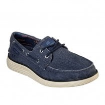 Skechers Mens Status 2.0 Lorano 65908 Slip On Casual Boat Shoes - Navy