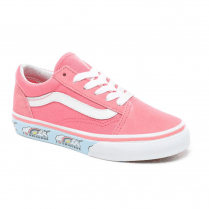 Vans Kids Old Skool Unicorn Strawberry Pink Lace Up Trainers Shoes - Pink