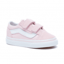 Vans Kids Toddler Old Skool V Velcro Shoes - Chalk Pink