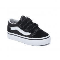 Vans Kids Toddler Old Skool V Velcro Shoes - Black