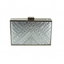 Menbur Villafontana Diamante Box Clutch Bag - Silver 84612