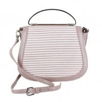Menbur Vaprio Summer Striped Style Small Bag - Nude Make-Up 44965