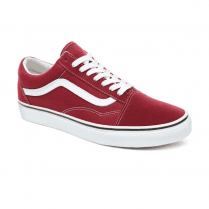 Vans Unisex Old Skool Low Top Sneakers - Rumba Red/True White