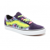 Vans Unisex Tie Dye Old Skool Low Top Sneakers - Mysterioso/True White