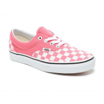 Vans Womens Checkerboard Era Sneakers - Strawberry Pink/True White