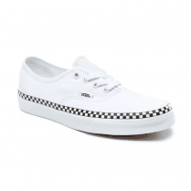 Vans Womens Check Foxing Authentic Low Top Trainers - True White