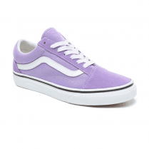 Vans Womens Old Skool Low Top Sneakers - Violet Tulip/True White