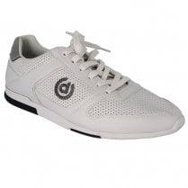 Bugatti Mens White Leather Casual Sneaker Shoes - 321-73201