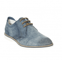 Bugatti Mens Light Blue Suede Leather Lace Up Shoes - 311-67102