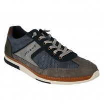 Bugatti Mens Denim Taupe Lace Up Casual Sneakers Shoes - 321-73202