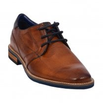 Bugatti Mens Cognac Leather Smart Lace Up Shoes - 311-46103