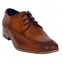 Bugatti Mens Cognac Leather Smart Lace Up Shoes - 311-66602