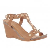 Zanni & Co Paia Wedge Heeled Sandals - Tan