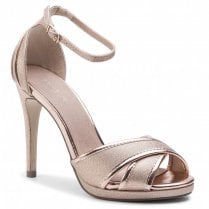 Menbur Valturva Rose Gold High Heeled Strappy Sandals - 20223