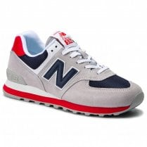 New Balance Mens 574 Grey Suede Sneakers