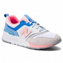New Balance Womens 997 White Multi Suede Sneakers - CW997HBC