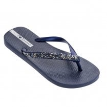 Ipanema Glam Special Crystal Womens Flip Flops - Navy