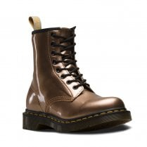 Dr Martens Womens Vegan 1460 Ankle Lace Up Boots - Chrome Gold