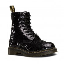 Dr Martens Womens 1460 Pascal Reversible Sequin Ankle Boots - Black/Silver