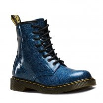 Dr Martens Youth 1460 Glitter Ankle Lace Up Boots - Blue