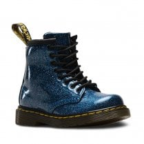 Dr Martens Kids 1460 Glitter Ankle Lace Up Boots - Blue