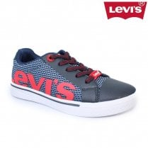 Levi's Kids Future Mega Trainer Shoes - Sizes 3.5 -6 / Navy Red